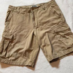 Men's khaki cargo shorts